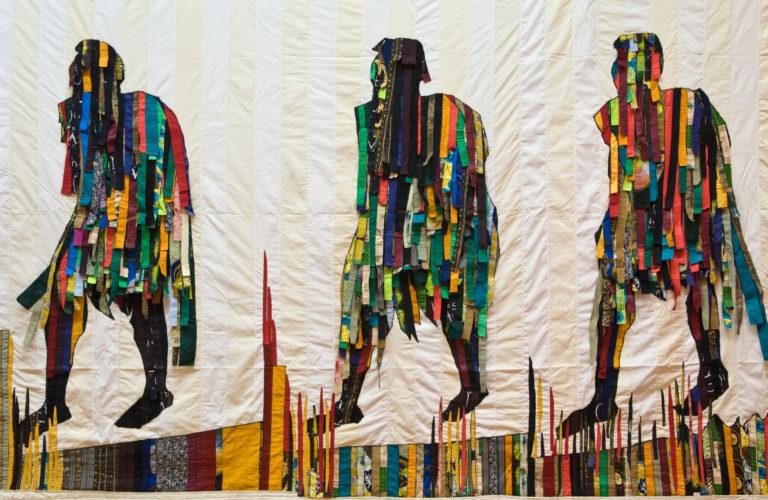 Artwork by Malian artist Abdoulaye Konate on show at artes mundi 2008 Wales International Visual Art Exhibition and Prize